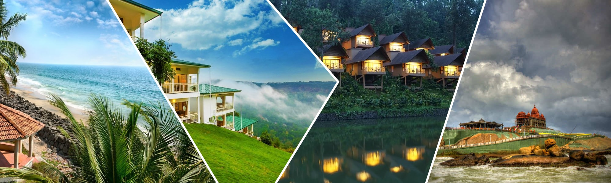Munnar, Thekkady, Alappuzha, Thiruvananthapuram, Kovalam and Kanyakumari Holiday Package Tour