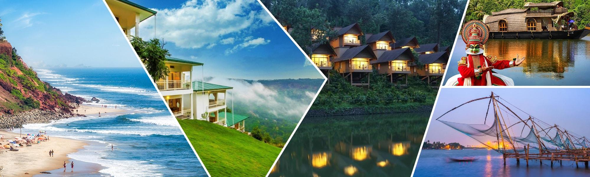 Munnar, Thekkady, Kovalam, Alappuzha and Kochi – Amazing Kerala Package tour