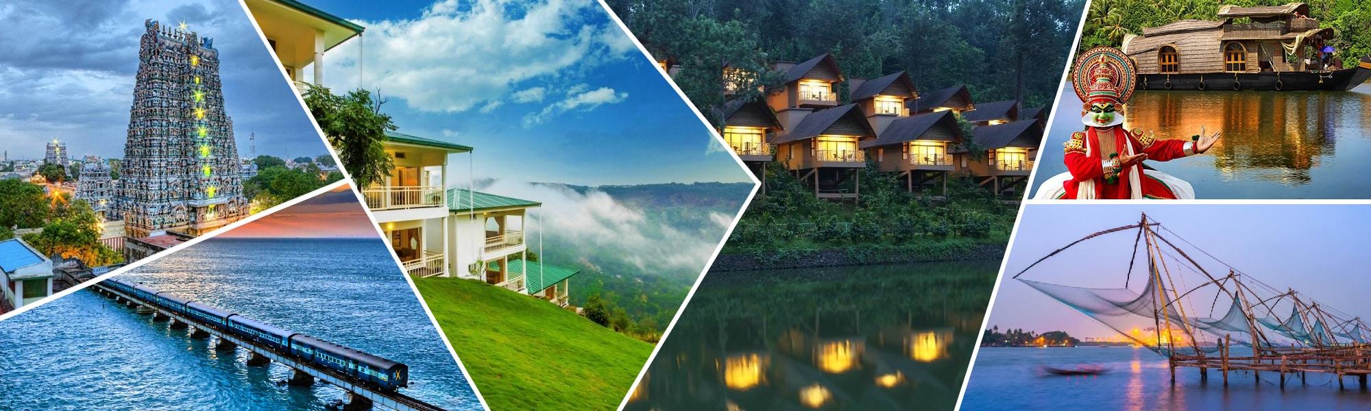Munnar, Alappuzha, Kochi, Thekkady, Rameswaram, and Madurai – Fun & Sprite Package Tour
