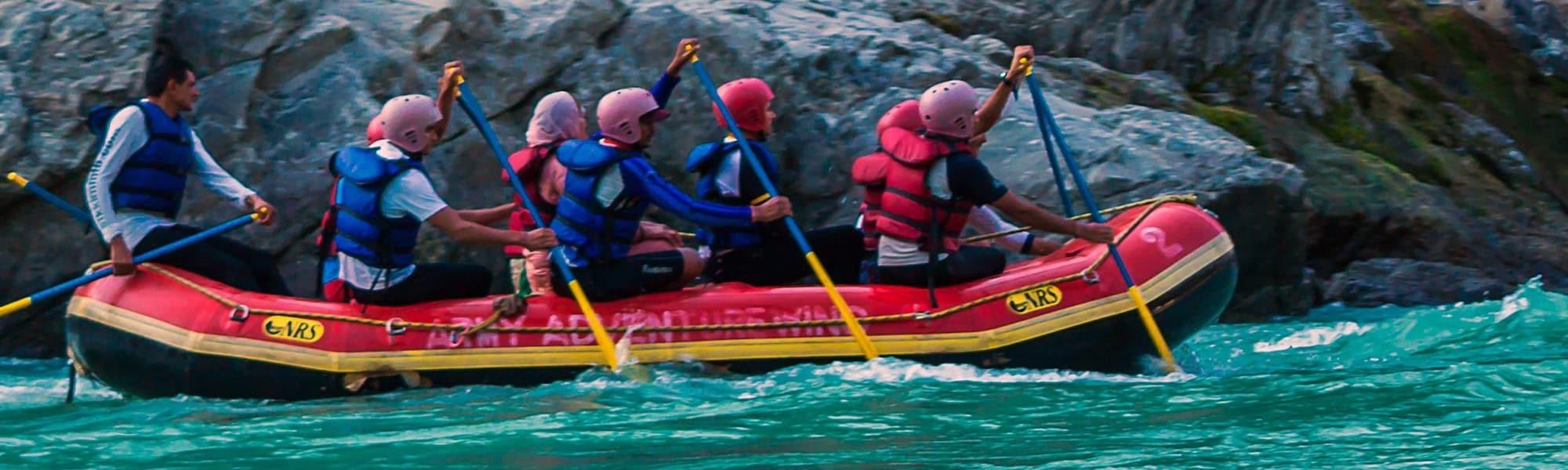 White River rafting in Barapole River